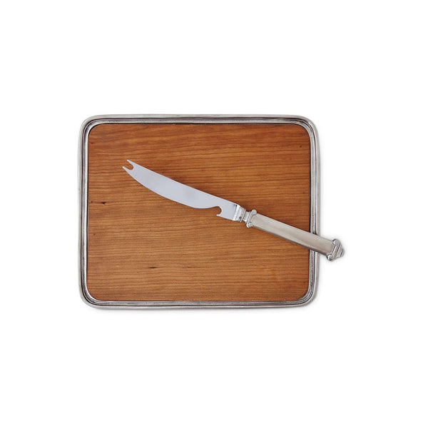 Match Bar Tray with Wood Insert & Knife Set