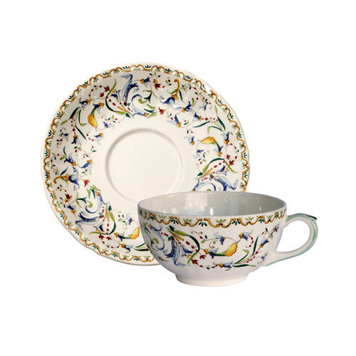 Gien Toscana S/2 Breakfast Cups & Saucers