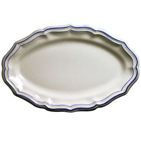 Gien Filet Bleu Oval Platter
