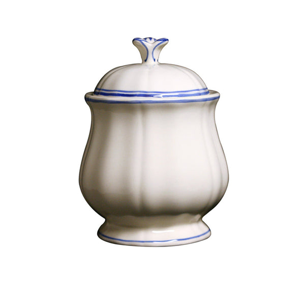 Gien Filet Bleu Sugar Bowl