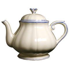 Gien Filet Bleu Teapot