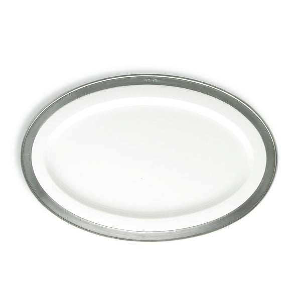 Match Convivio Oval Serving Platter, Med, White