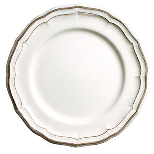 Gien Filet Taupe S/4 Dinner Plates