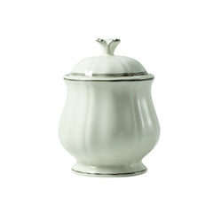 Gien Filet Taupe Sugar Bowl