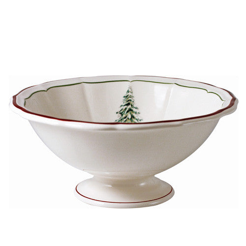 Gien Filet Noel Open Vegetable Serving Bowl