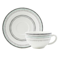 Gien Coquettes S/2 Breakfast Cups & Saucers