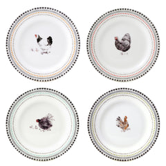 Gien Coquettes S/4 Assorted Canape Plates