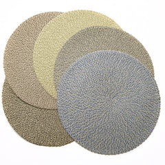Deborah Rhodes Neutral Two-Tone Twist Triple Braid Placemats (set of 6)