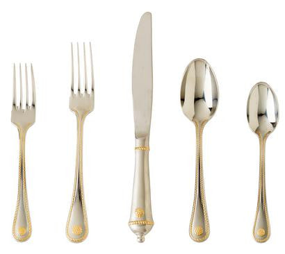 Berry and Thread Gold and Stainless Flatware