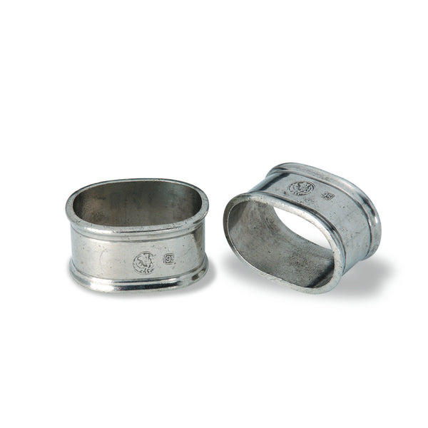 Match Oval Pair of Napkin Rings