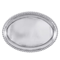 Mariposa Brillante Pearled Large Oval Platter