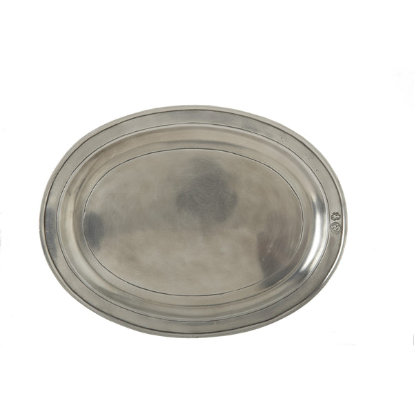 Match Oval Medium Incised Tray