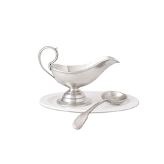 Match Gravy Boat W/Gravy Spoon