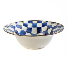 MacKenzie Childs Royal Check Serving Bowl