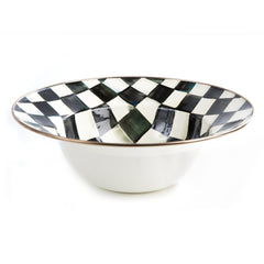 MacKenzie Childs Courtly Check Enamel Serving Bowl