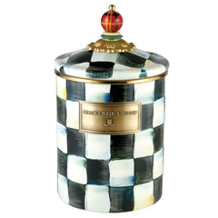 MacKenzie Childs Courtly Check Medium Canister