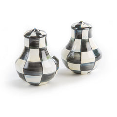 MacKenzie Childs Courtly Check Enamel Salt & Pepper Shakers