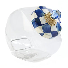 MacKenzie Childs Royal Check Cookie Jar