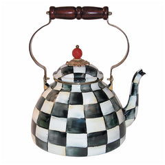MacKenzie Childs Courtly Check 3 Quart Tea Kettle