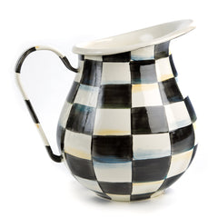 MacKenzie Childs Courtly Check Enamel Pitcher