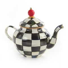 Mackenzie Childs Courtly Check 4 Cup Teapot