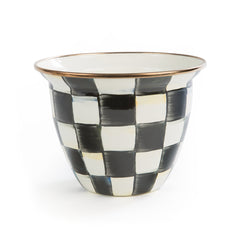 MacKenzie Childs Courtly Check Large Flower Pot