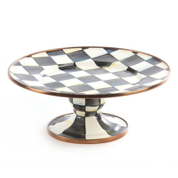 Mackenzie Childs Courtly Check Mini Pedestal Platter