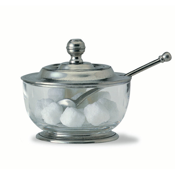 Match Sugar Bowl W/Spoon