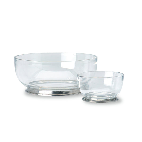 Match Round Small Crystal Bowl
