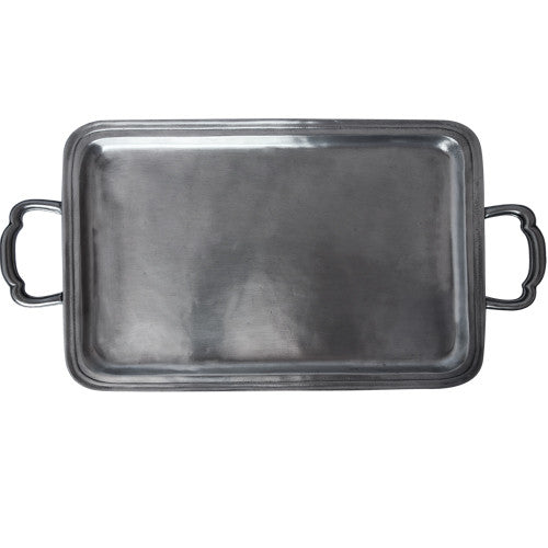 Match LAGO RECTANGLE TRAY W/HANDLES, MED