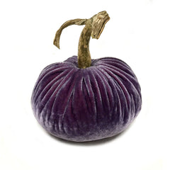 Plush Amethyst Small Velvet Pumpkin