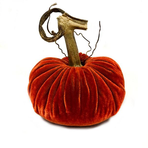 Plush Apricot Small Velvet Pumpkin
