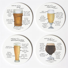 Dishique Craft Beer Anatomy Coasters