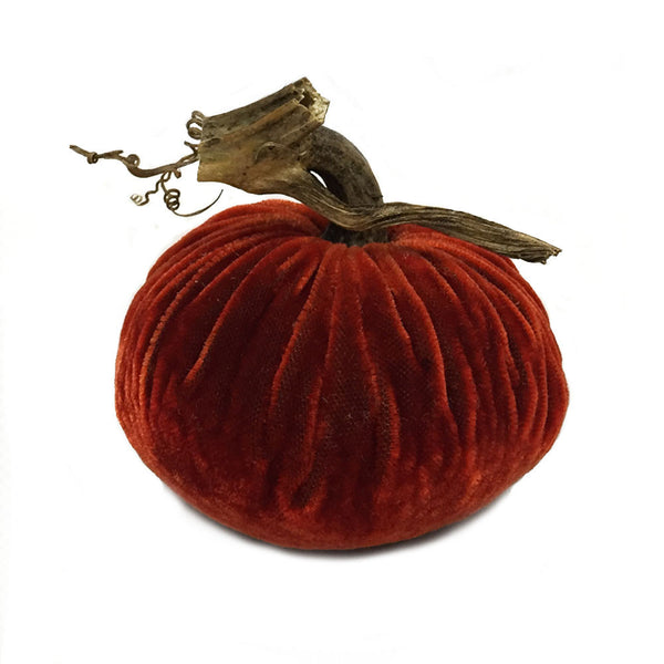 Plush Bittersweet Small Velvet Pumpkin