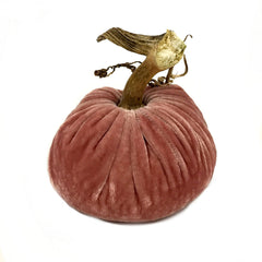 Plush Blush Small Velvet Pumpkin