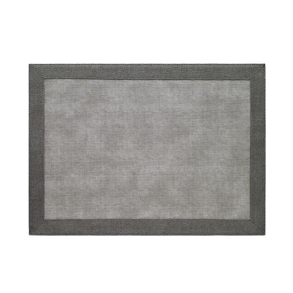 Bodrum Bordino Charcoal/Gray Rectangle Placemat