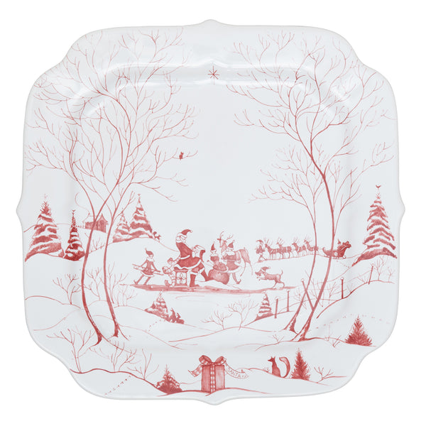 Juliska Country Estate Winter Frolic Ruby Cookie Tray