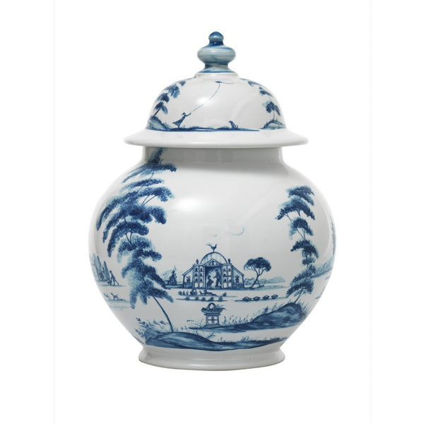 Juliska Country Estate Delft Blue Medium Lidded Ginger Jar