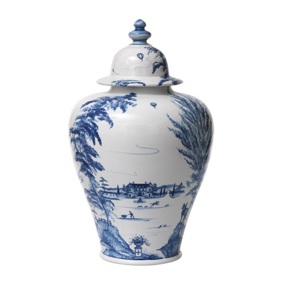 Juliska Country Estate Delft Blue Large Lidded Ginger Jar