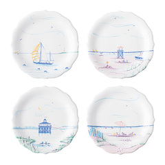 Juliska Country Estate Seaside Assorted Party Plates S/4