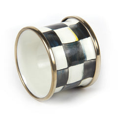 MacKenzie-Childs Courtly Check Enamel Napkin Ring