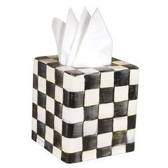 MacKenzie-Childs Courtly Check Enamel Tissue Box Cover