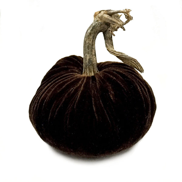 Plush Chocolate Small Velvet Pumpkin