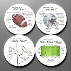 Dishique Football Anatomy Coaster Set