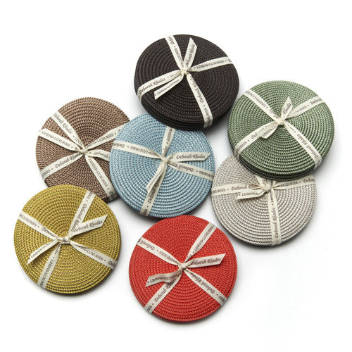 Deborah Rhodes Brown/Grey S/4 Coasters