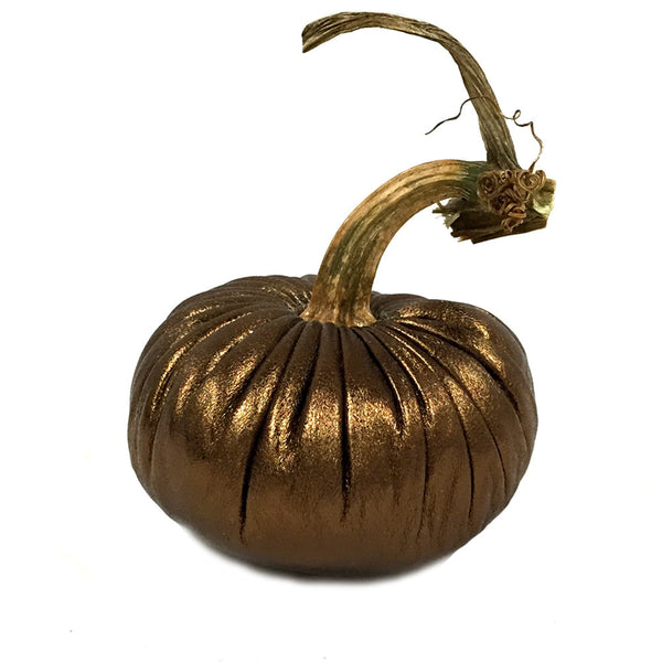 Plush Copper Lambskin Pumpkin