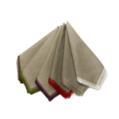 Deborah Rhodes Flax Linen Lace Edge Napkins (set of six)