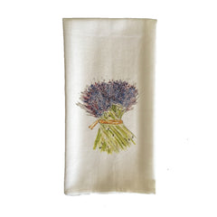 French Graffiti Lavender Bunch Towel
