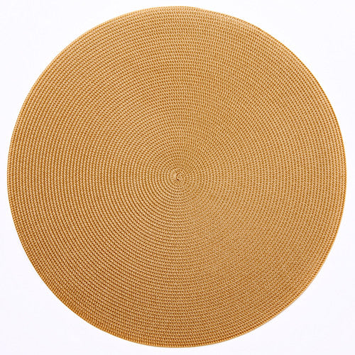 "Deborah Rhodes Gold Round 15"" Placemat (Set of 6)"