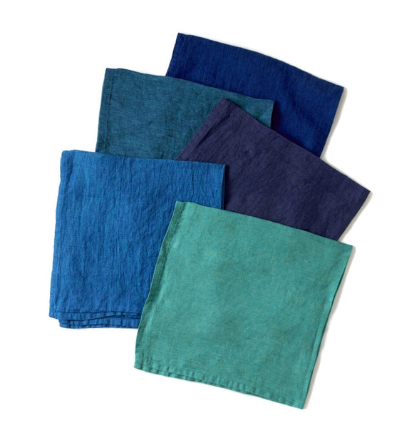 Deborah Rhodes Colony Blue Washed Napkin